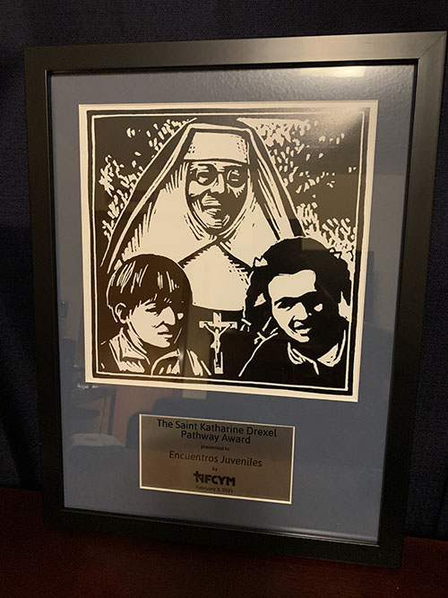 In February 2021, Encuentros Juveniles, an archdiocesan youth movement for people ages 14-25, was  recognized by the National Federation for Catholic Youth Ministry, and received the St. Katharine Drexel Pathway Award.