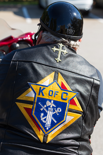 Customized biker wear was on display during the first Knights of Columbus-affiliated Ride for Vocations conducted in conjunction with the Knights on Bikes organization of Florida and held May 27, 2021 starting at St. Katharine Drexel in Weston. Miami Archbishop Thomas Wenski celebrated a morning Mass and led the ride all the way to the Knights of Columbus Kissimmee Council Hall No. 6624 south of Orlando. All donations benefited Florida seminarians.