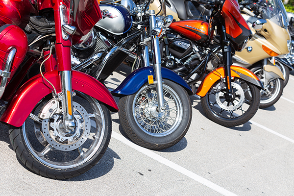 Motorcycles are seen ready for action as more than 20 participants from around Florida took part in the first Knights of Columbus-affiliated Ride for Vocations conducted in conjunction with the Knights on Bikes organization of Florida and held May 27, 2021 starting at St. Katharine Drexel in Weston.