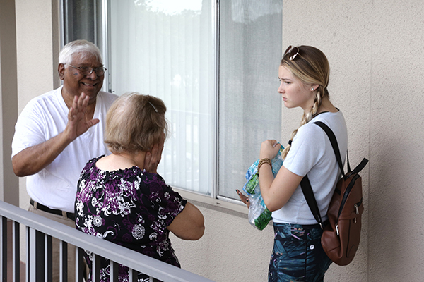 Volunteers from St. Edward Parish in Pembroke Pines prepared hot meals and checked in on senior citizen residents of the expansive Century Village housing development in Pembroke Pines after Hurricane Irma hit in September 2017. It's an example of how clergy and members of faith communities can be protective conduits of the well-being and safety of older congregants.