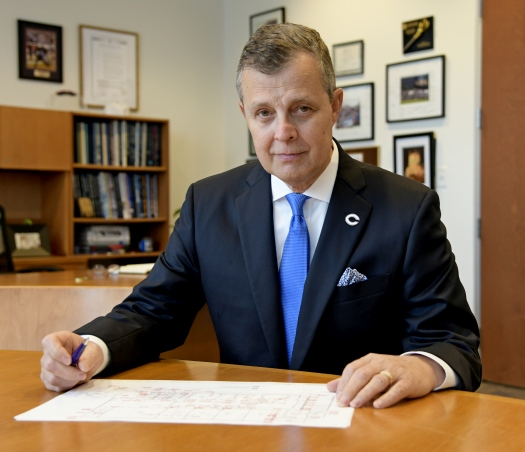 "Prayer is ""a way of serving the community,"" said Thomas Kruczek, president of Columbus High School."
