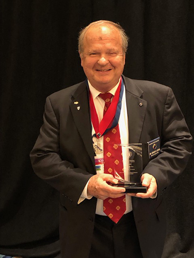 Carlos Coton, Grand Knight of the San Marcelino Champagnat Council based at St. Brendan Church in Miami, was named Florida's Knight of the Year by the Florida State Council of the Knights of Columbus at their annual convention, May 29, 2021.