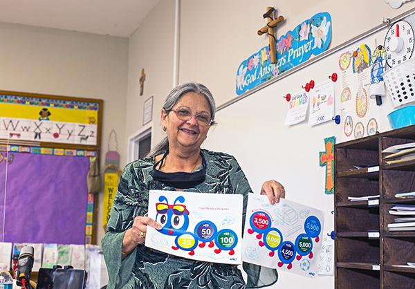 Nativity School kindergarten teacher Margaret Knowles is retiring this month, having never missed a day of teaching in 27 years.