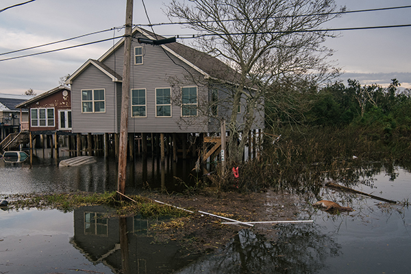A deceased deer is shown in floodwater on Sept. 1, 2021 in Jean Lafitte, Louisiana. Jean Lafitte Mayor Tim Kerner has pleaded for help for residents of the small town, which is roughly 20 miles south of New Orleans. Many stores remain closed and services suspended as power throughout New Orleans and its surrounding region is down. Ida made landfall as a Category 4 hurricane on Aug. 29 in Louisiana and brought flooding and wind damage along the Gulf Coast. (Photo by Brandon Bell/Getty Images)