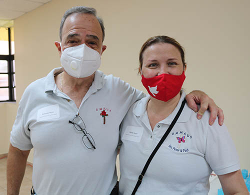 Eduardo Serer and his wife, Maida, members of Sts. Peter and Paul Parish in Miami, participated in the Sidewalk Advocacy Training offered Sept. 11, 2021 by the Office of Respect Life.