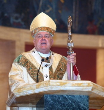 Archbishop Thomas Wenski preaches the homily at Christmas Mass at the Cathedral of St. Mary.