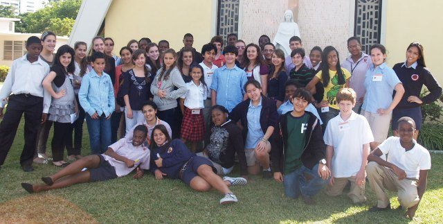 Students from 10 different middle schools in the Archdiocese of Miami attended Archbishop Curley Notre Dame High School's annual Middle School Leadership Workshop, which enabled them to gain practical experience in communication, motivation and group dynamics in order to prepare them for high school.