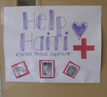 St. Thomas Aquinas High School students are continuing to help Haiti by asking for medical donations.