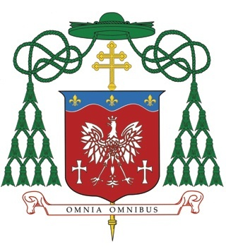 Archbishop Thomas Wenski's personal coat of arms reflects his Polish heritage and his work with the Haitian and Cuban people in Miami.