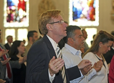 Randy McGrorty, attorney and executive director of Catholic Legal Services, takes part in the Red Mass.