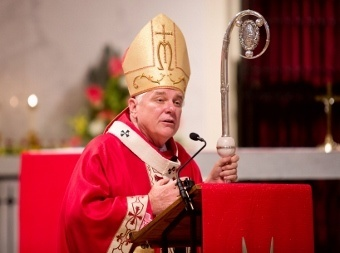 Miami Archbishop Thomas G. Wenski delivers the homily during the Rite of Installtion of new major seminary rector Father David Toups  on Sept. 21 at St. Vincent de Paul Regional Seminary in Boynton Beach.