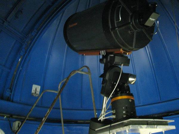 The telescope at Belen Jesuit Prep, one of the few schools in the nation with an observatory.