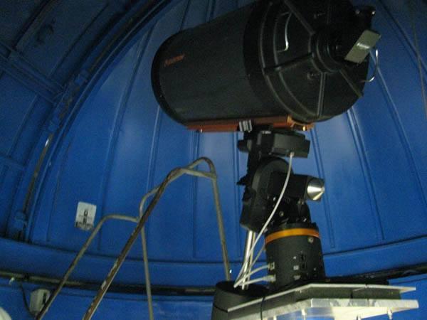 Telescopio del observatorio del Colegio Jesuita de Belén.