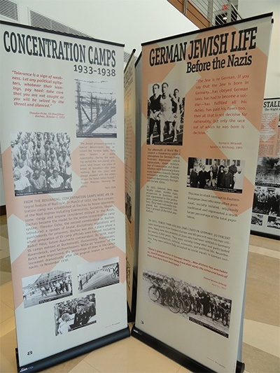 "Information on concentration camps that is part of ""The Courage to Remember"" exhibit."