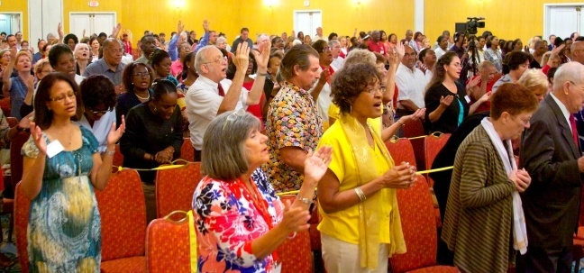 More than 400 people attended the recent archdiocesan Charismatic Conference in Dania Beach.