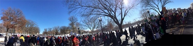 Panoramic view of participants at the 41st annual March for Life in Washington, D.C.