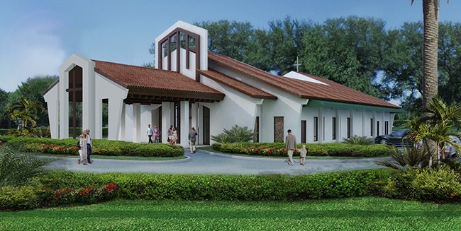 Architect's rendering of the renovated St. Henry Church.