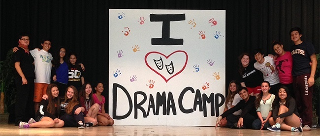 Students from the Pace annual summer drama camp pose for a photo. Top left row, from left: Alec Pierce, Kristian Perez, Amanda Perez, Briana Walker; bottom left row, from left: Britni Giardinieri, Elyse Bernstein, Sabrina Caldas, Anola Sejour.Top right row, from left: Reyna Rodriguez, Anthony Raffa, Kenea Sejour, Pablo Pernia; bottom right row, from left: Elizabeth Maisello, Carlos Martinez, Sabrina Lama, Christina Borohquez.