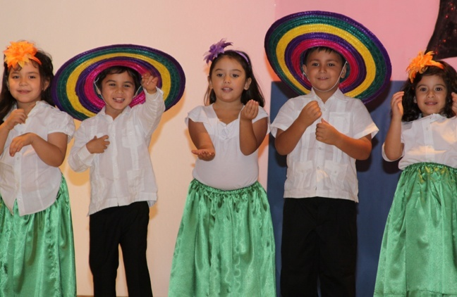 Blessed Trinity PK-4 students dance and sing the
